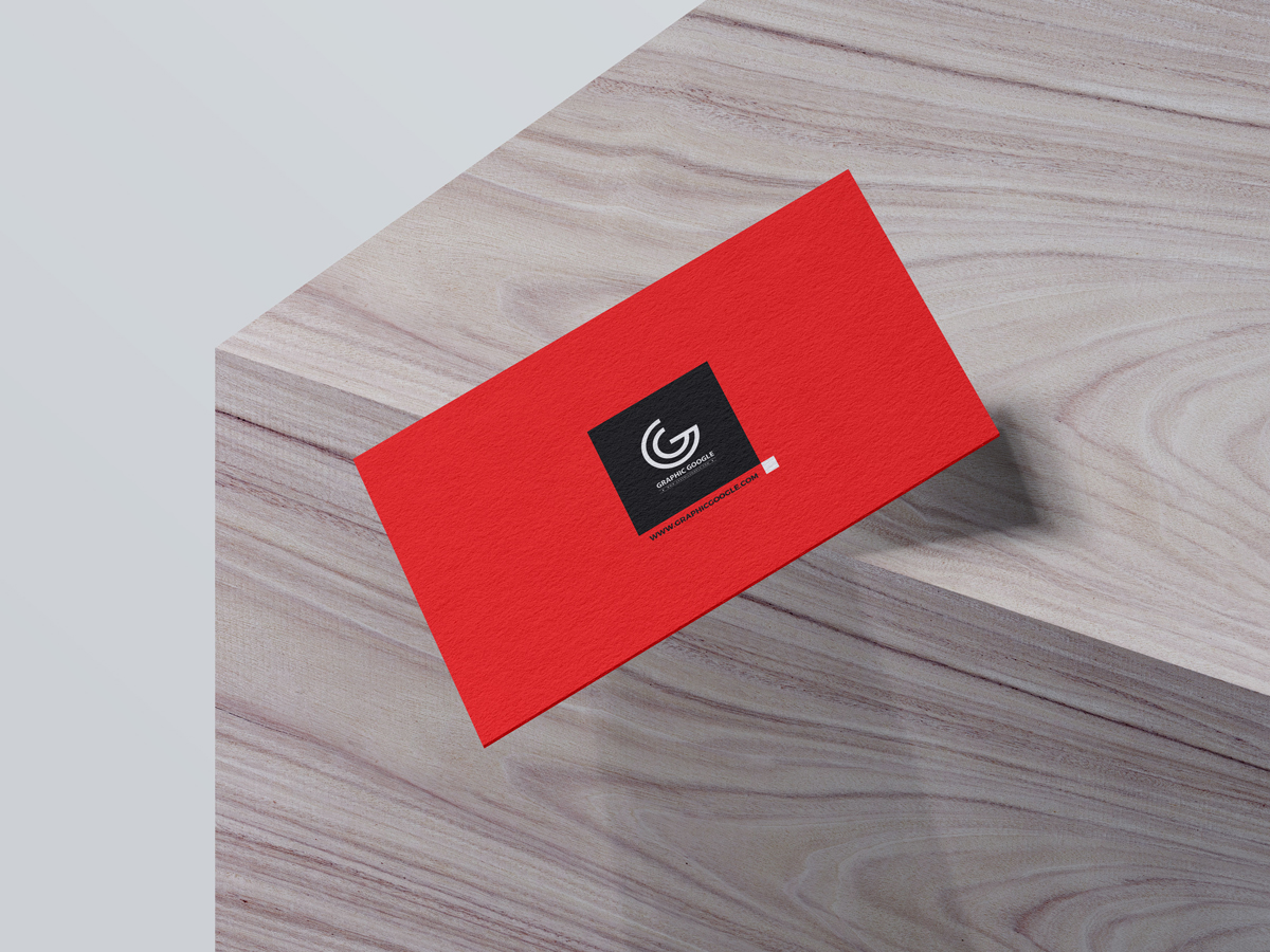 Free-Falling-Business-Card-Mockup-2018-With-Background-Color