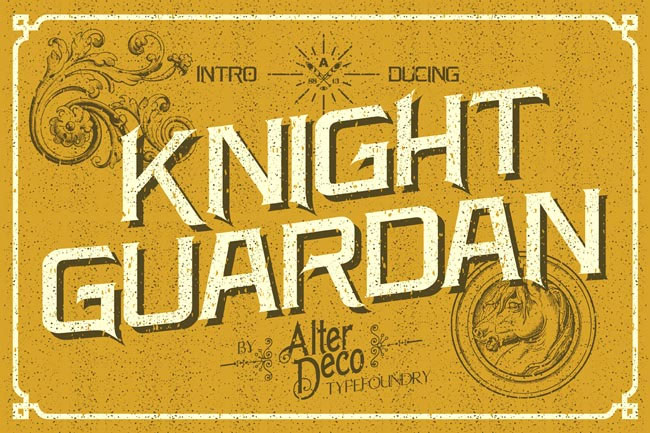 Knight-Guardan-beautiful-retro-style-typeface