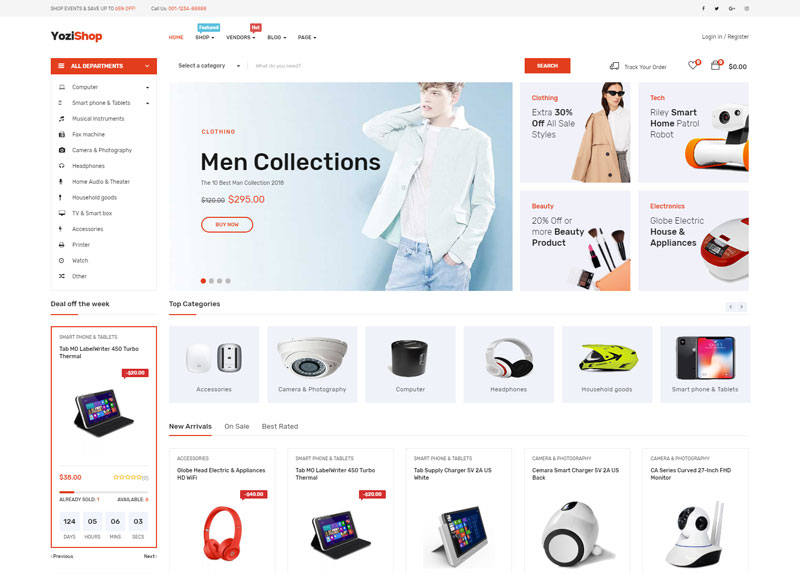 Yozi-Multipurpose-Electronics-WooCommerce-WordPress-Theme