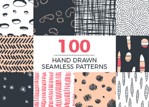 100 Creative Colorful Hand Drawn Seamless Patterns of 2018 For Designers