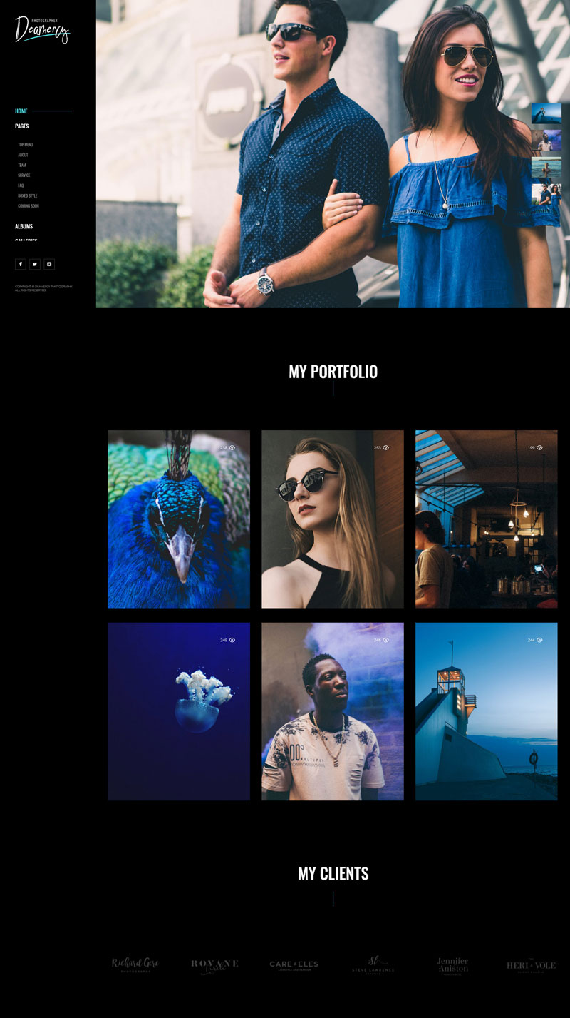 Deamercy-Photography-Portfolio-WordPress-Theme-2018