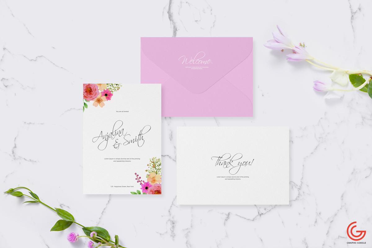 Free invitation card mockup for wedding greetings stopboris Choice Image