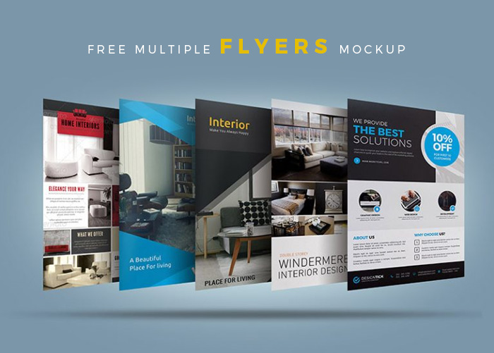Free-Multiple-PSD-Flyers-Mockup