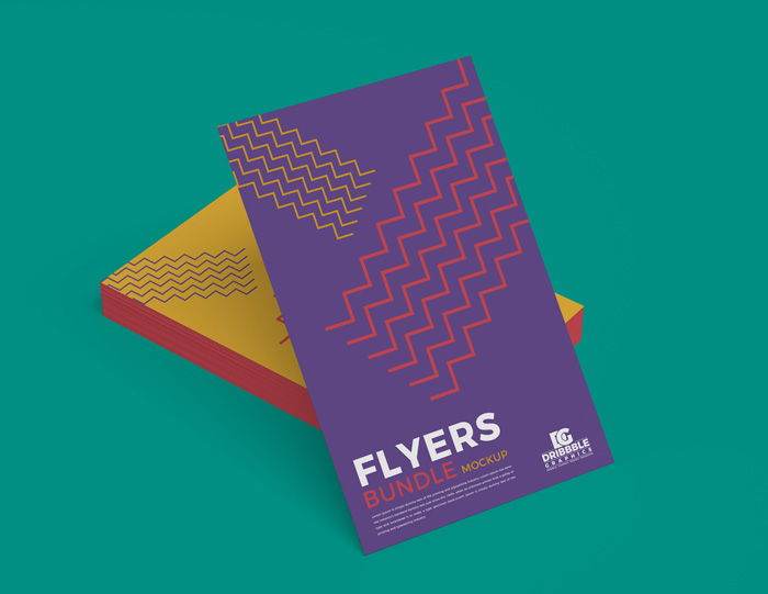 Free-Stack-of-Flyers-Mockup