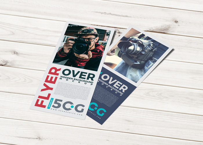 Free-Wooden-Grounded-PSD-Flyer-Mockup