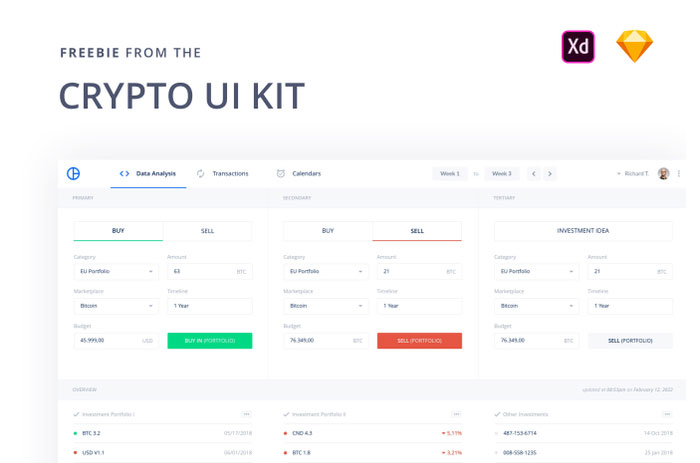 Crypto-Free-UI-Kit-Design