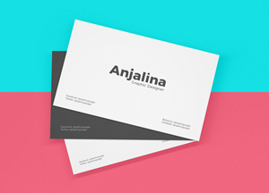 Free Business Card Mockup PSD #1