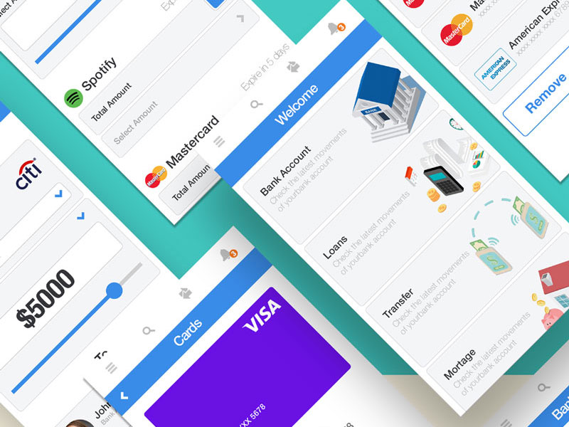Free-Creative-Bank&Pay-Free-Mobile-UI-Design-Kit