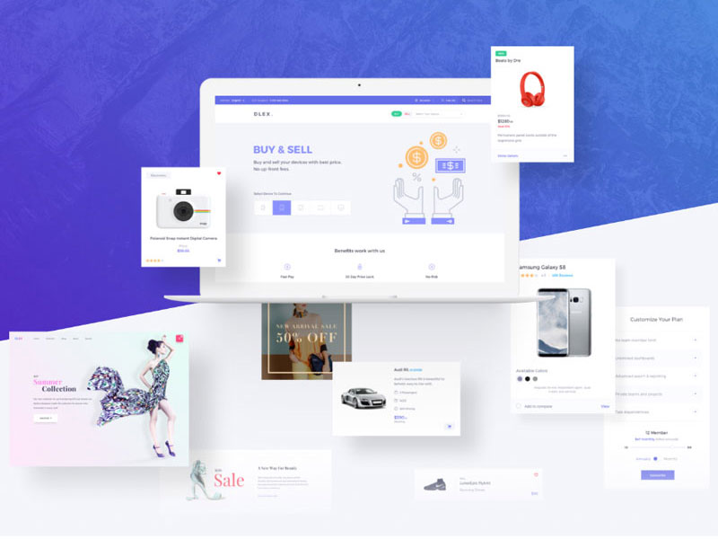 50 Free Best UI Design Kits of 2017-2018 For All DesignersGraphic