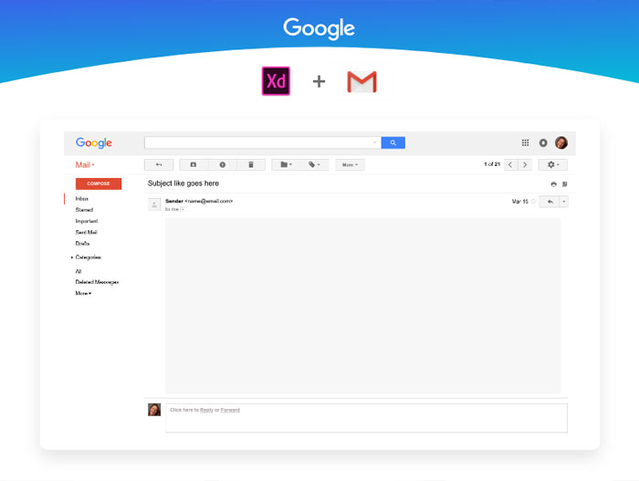 Gmail-Free-UI-Design-Kit-AdobeXD