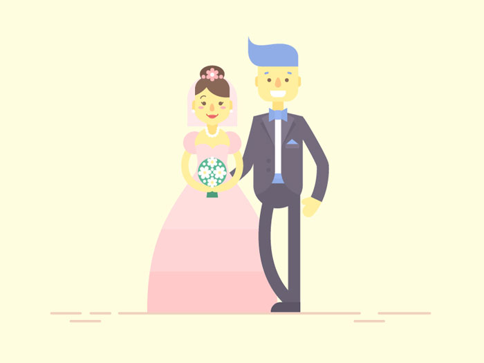 How-to-Create-Flat-Bride-&-Groom-Characters-in-Adobe-Illustrator