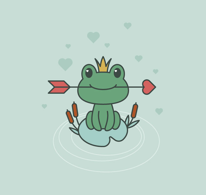 How-to-Create-a-Frog-Princess-Illustration-in-Adobe-Illustrator