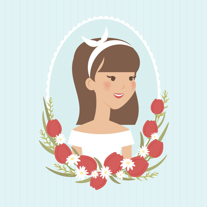 How-to-Create-a-Vintage-Spring-Portrait-of-a-Girl-in-Adobe-Illustrator