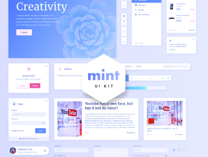 Mint-Free-Sketch-Web-UI-Kit-Design