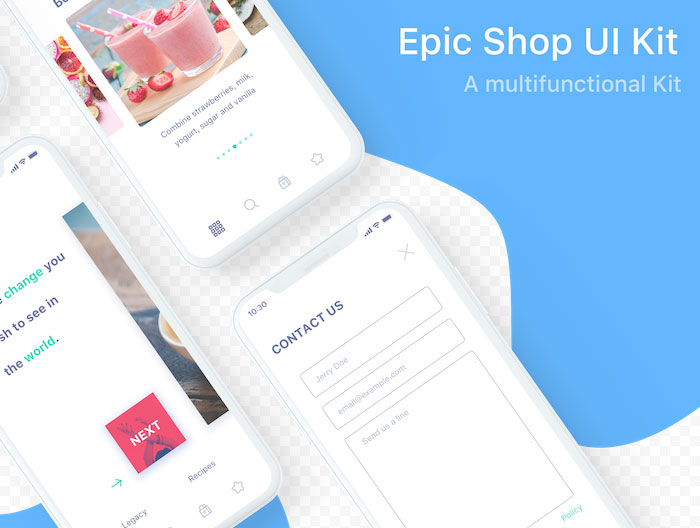 iPhone-X-Epic-Shop-UI-Design
