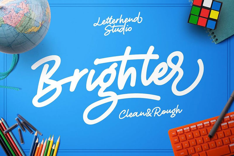 19-Brighter-Clean-Rough-Font-2018-0