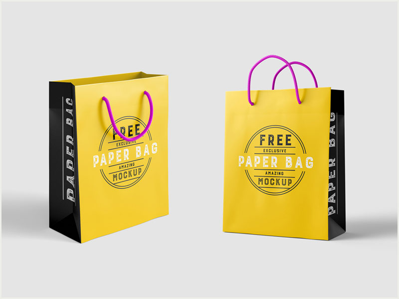 Free-Beautiful-Paper-Shopping-Bag-MockUp-Psd-Template