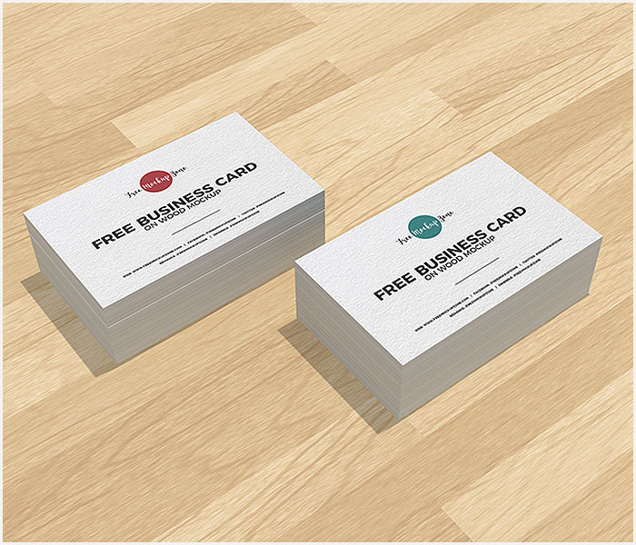 Free-Business-Cards-on-Wood-Mockup