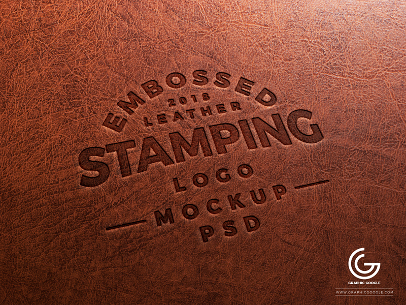 Free-Embossed-Leather-Stamping-Logo-Mockup-PSD-2018