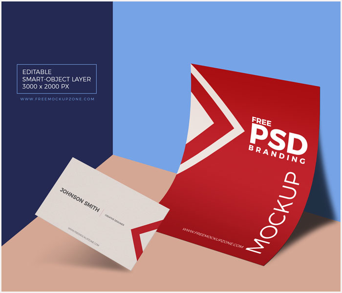 Free-PSD-Business-Card-&-Paper-Branding-Mockup