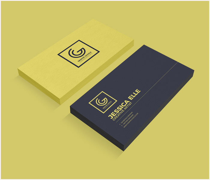 Free-Textured-Front-&-Back-Business-Card-Mockup