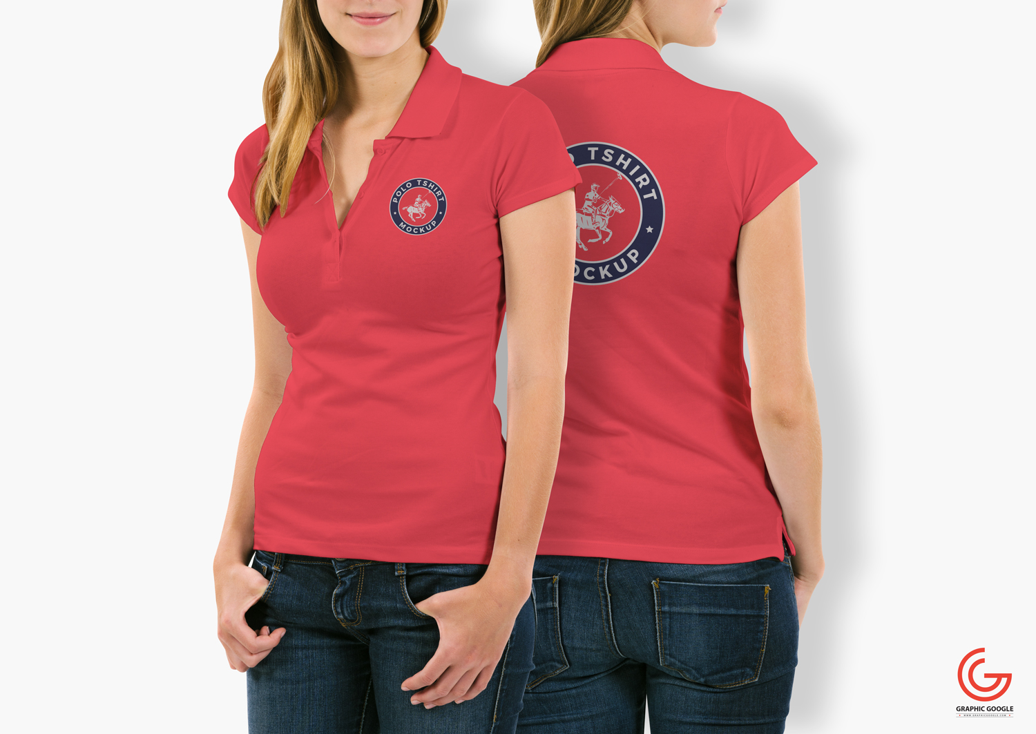 Free-Woman-With-Polo-T-Shirt-Mockup-PSD-3