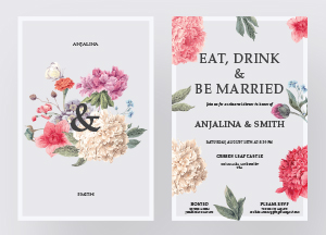 Free Modern & Premium Wedding Invitation Templates 2018