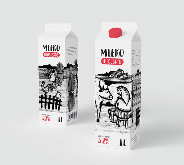 Milk-packaging-ink-illustration