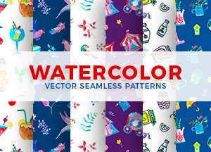 20 Free Watercolor Vector Seamless Patterns for Commercial Use