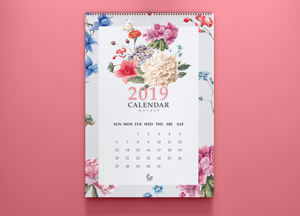 Free 2019 Calendar Mockup PSD For Presentation