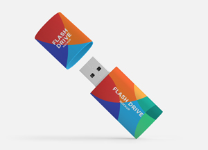 Free Modern Flash Drive Mockup PSD For Branding 2018