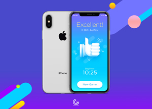 Free Silver iPhone X Mockup For Screens Presentation 2018