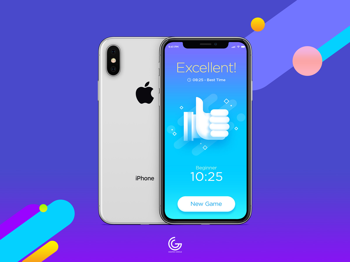 Free-Silver-iPhone-X-Mockup-For-Screens-Presentation-2018