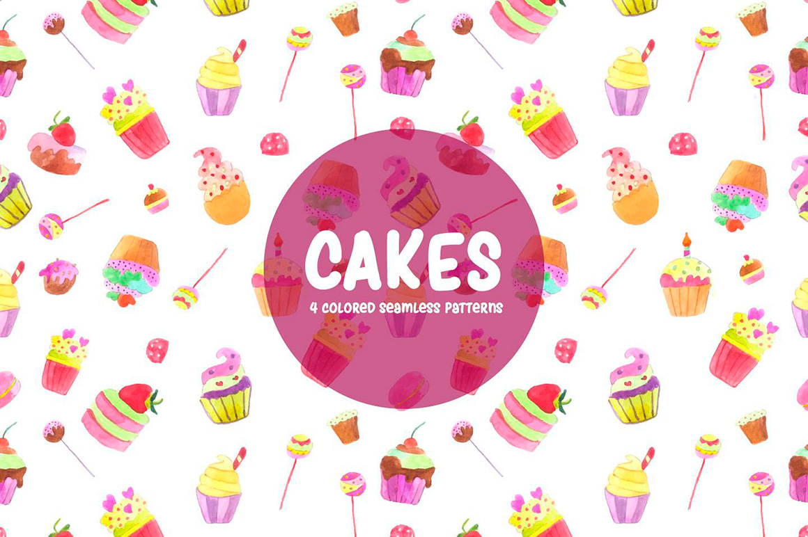 cakes-watercolor-vector-seamless-free-pattern-3