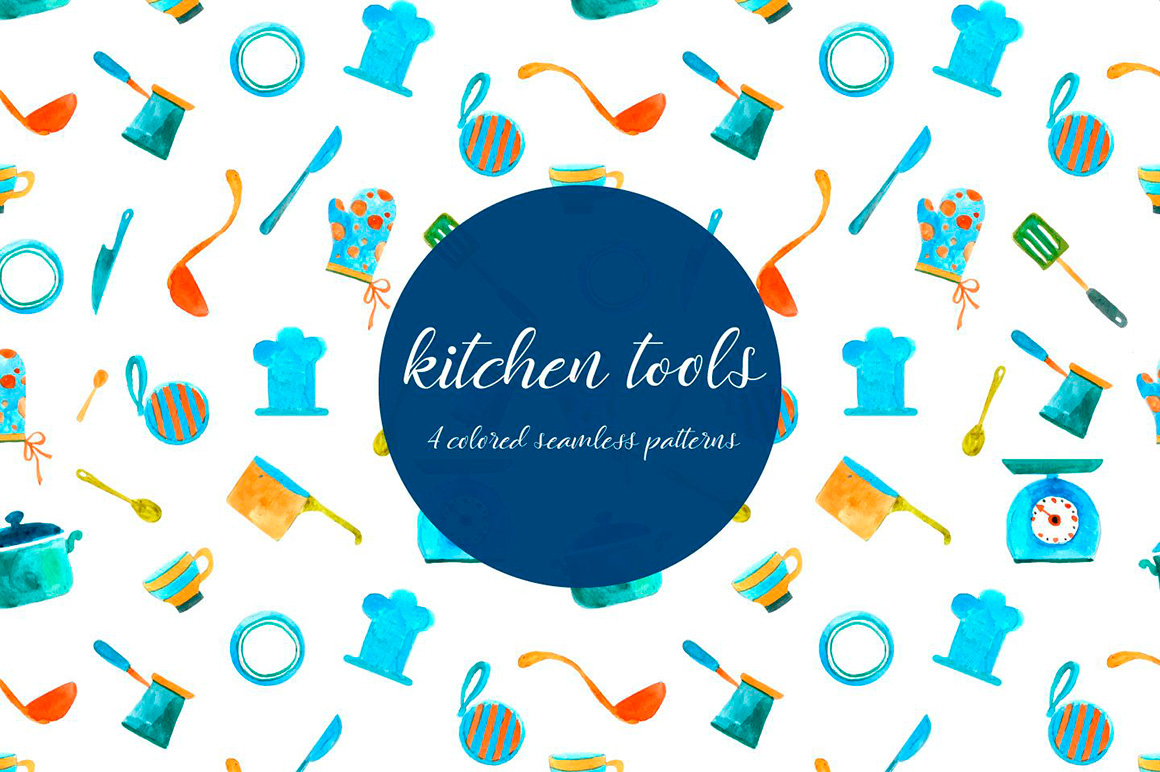 kitchen-tools-illustration-vector-free-pattern-2