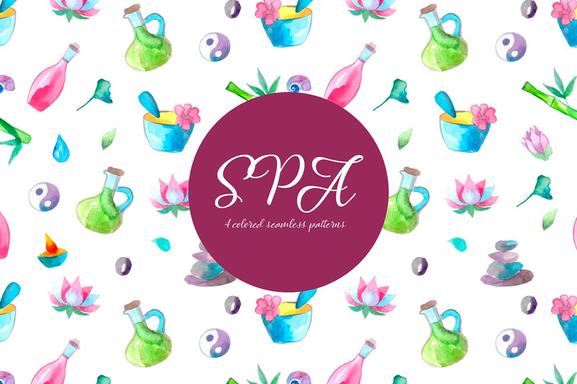 spa-watercolor-illustration-vector-free-pattern-2