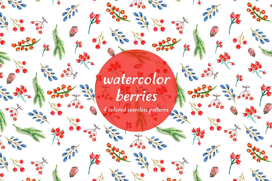 watercolor-berries-free-pattern-4