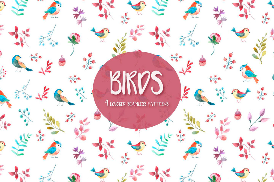 watercolor-birds-vector-free-seamless-pattern-3