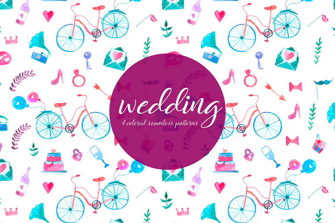 wedding-watercolor-vector-seamless-free-pattern-2