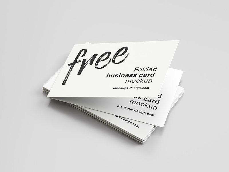 Free-Folded-Business-Card-Mockup