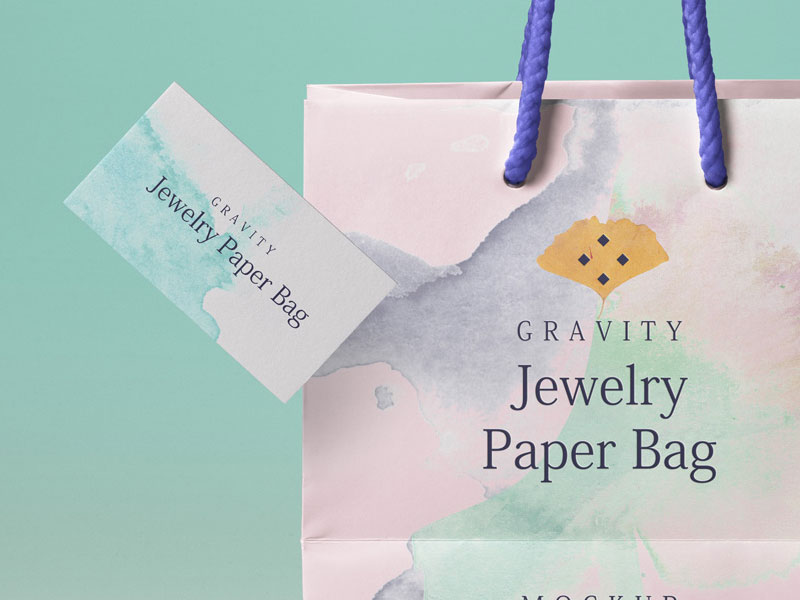Psd-Gravity-Shopping-Bag-With-Business-Card-Mockup