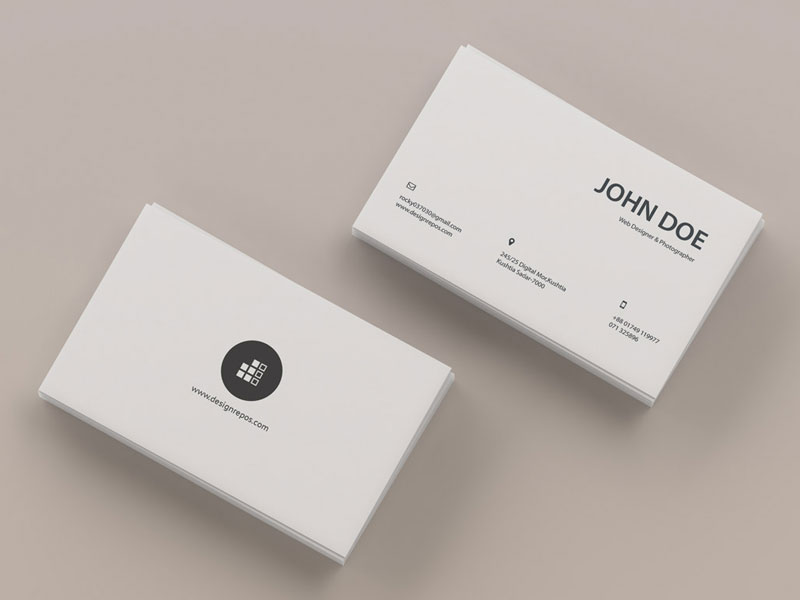 Top-View-Business-Card-Mockup