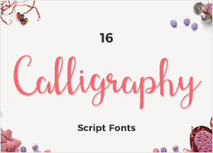 16 Beautiful Calligraphy Script Fonts For Creative Designers
