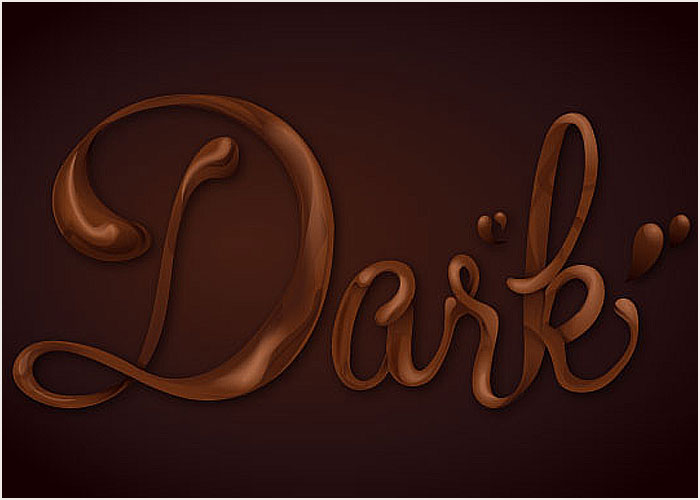Chocolate-Text-Vector-Effect-Tutorial