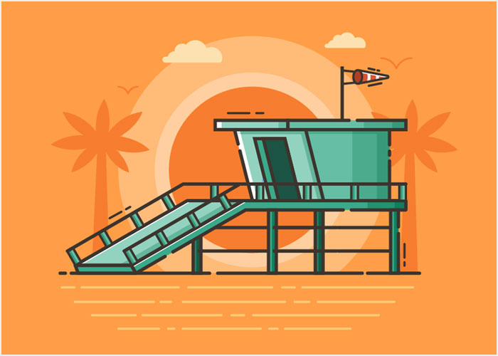 How-to-Create-a-Beach-Guard-Tower-Illustration-in-Adobe-Illustrator