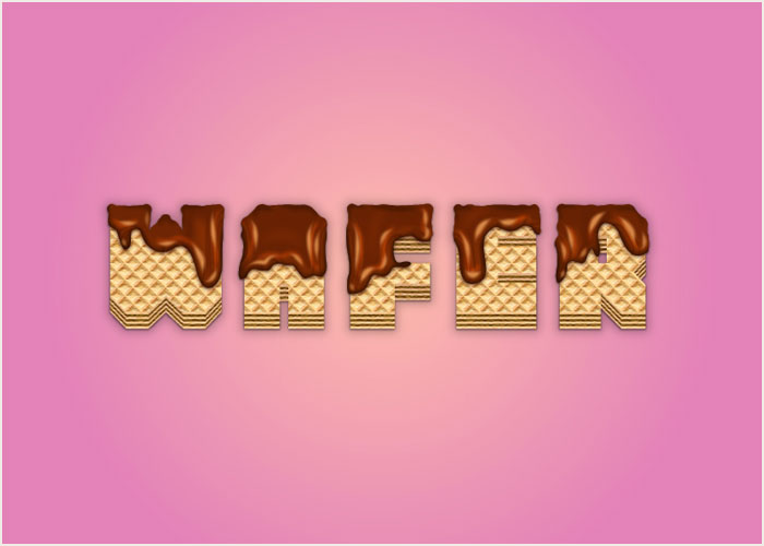 How-to-Create-a-Wafer-Text-Effect-Covered-With-Melted-Chocolate-in-Adobe-Illustrator
