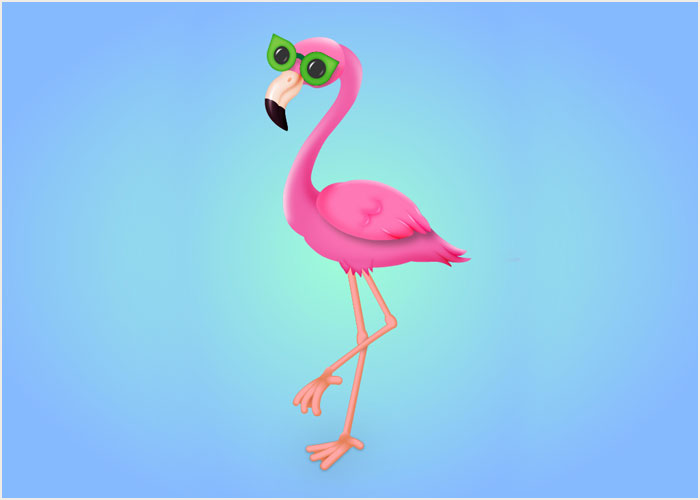 How-to-Draw-a-Flamingo-Character-in-Adobe-Illustrator