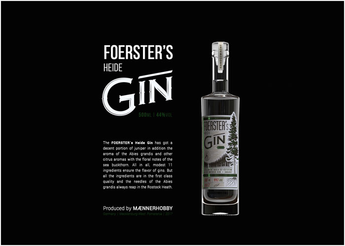 Foerster's-Heide-Gin-Label-Design