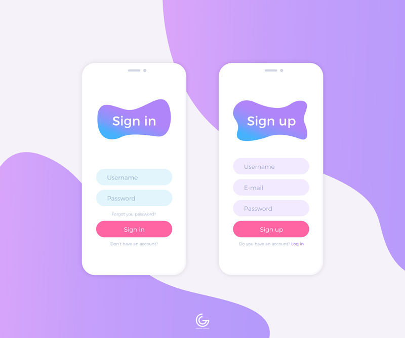 Free-Clean-Login-Mobile-UI-Design-Concept-Template