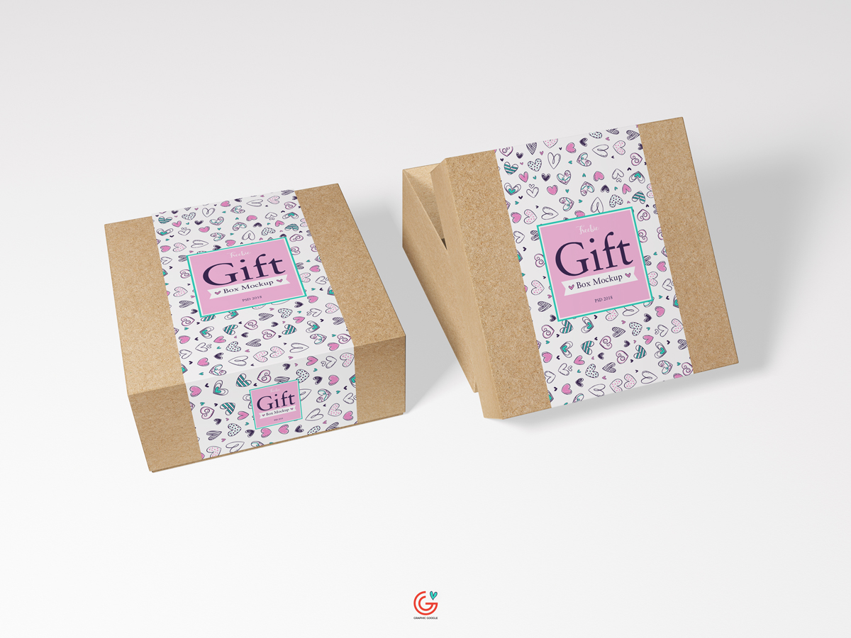 Free-Packaging-Craft-Paper-Gift-Box-Mockup-PSD-2018-600